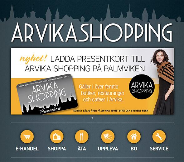 Arvika Shopping - web