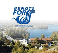 Bengtsfors logo og flyfoto