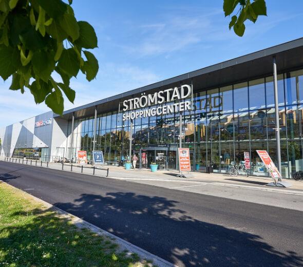 Strømstad shoppingcenter bygning